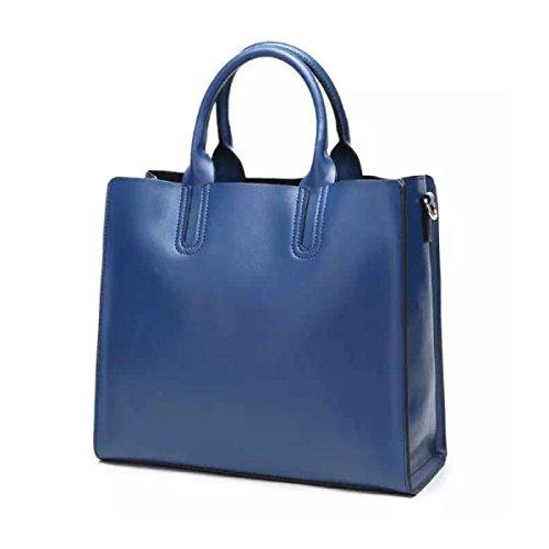 Fashional Borse Donna Spalla Pura Blu In Messaggero Di Del Tendenza Borsa Pelle CwPET4txq4