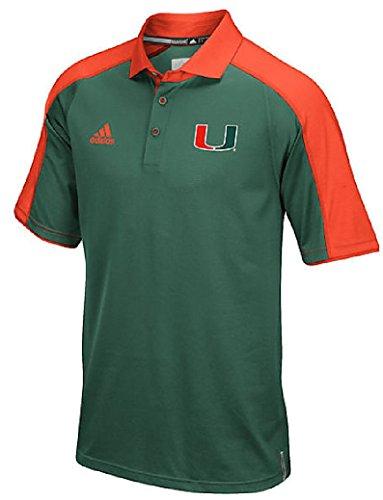 NCAA Miami Hurricanes Men's Sideline Polo, X-Large, Dark Green