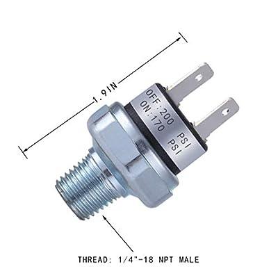 Air Pressure Switch 170-200 PSI Pressure Switch 1/4
