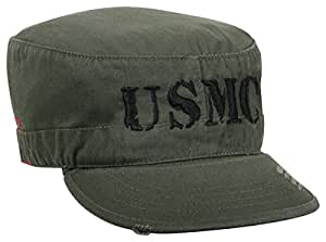 Rothco at Marines G&A Vintage Fatigue Cap, Olive Drab, Small