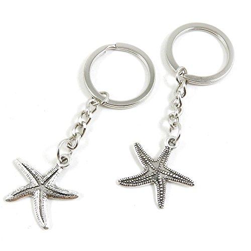 210 Pieces Fashion Jewelry Keyring Keychain Door Car Key Tag Ring Chain Supplier Supply Wholesale Bulk Lots U0FD8 Starfish Sea -