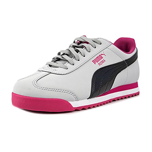 PUMA Girl's Roma Iridescent Ankle-High Leather Fashion Sneaker