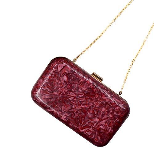 3 couleurs acrylique arrondie Pochette Iudrfgsd Red ronde HgSPvnq