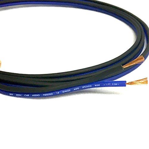 100' feet TRUE 18 Gauge AWG CCA Speaker Wire Car Home Audio