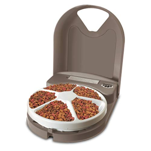 PetSafe 5 Meal Automatic Dog and Cat Feeder,...