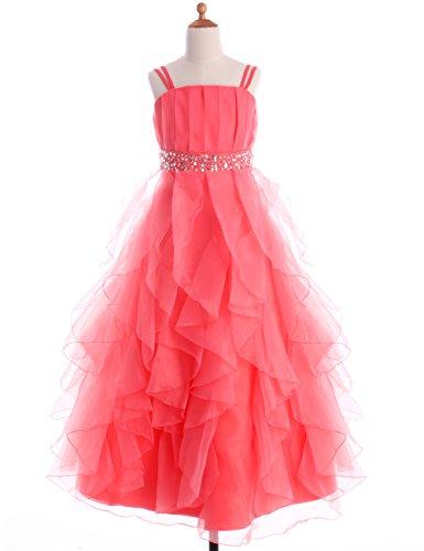 orange pageant dresses - 5