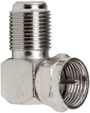 10 Pack F Male to F Female Right-Angle Adaptor