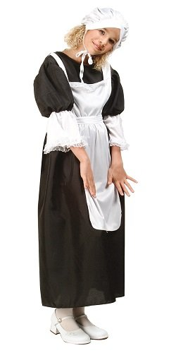 RG Costumes Pilgrim Girl Costume, Black/White, Small ()