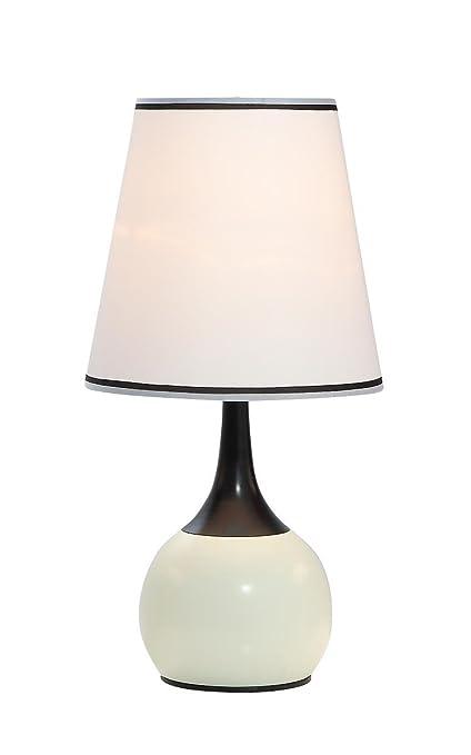 Ore International K 815PL Modern Touch Lamp, 12u0026quot; X 12u0026quot; ...