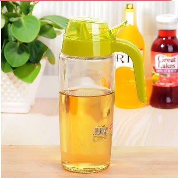 500ML Jarras de aceite suministros de cocina grandes botellas de vidrio grueso de la fuga de