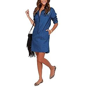 d04285b55be4 Instar Mode Women's Basic Classic Long/Roll Up Sleeve Button Down ...