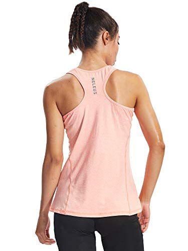 Neleus Workout Running Racerback Long Tank Top Yoga Shirt for Women