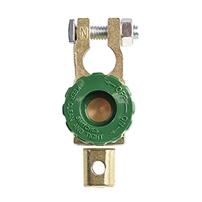SODIAL(R) Battery Terminal Link Switch Quick Cut-off Disconnect Car Truck Auto Vehicle Parts Green (Battery switch 2)