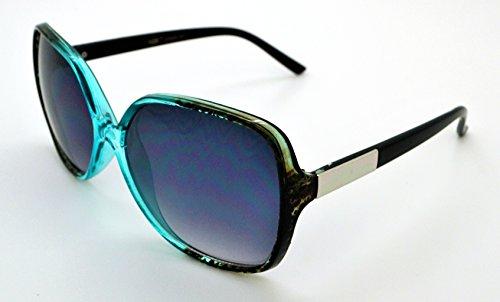 VOX Trendy Classic Womens Hot Fashion Sunglasses w/FREE Microfiber Pouch - Teal Frame - Smoke - Teal Sunglasses