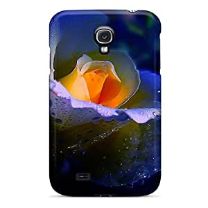 New Galaxy S4 Case Cover Casing(golden Heart Of Blue)
