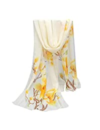Summer Wrap Scarf, Winhurn Women Long Soft Chiffon Shawl Chiffon Printing Scarves