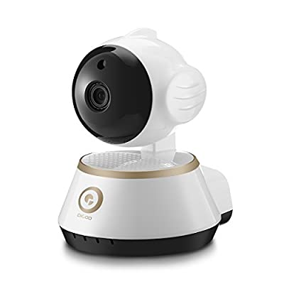 DIGOO DG-M1X Pan/Tilt/Zoom 960P 3.6mm Lens IP Camera, 355°Horizontal & 90° Vertical Rotation Home Security Surveillance System With Motion Detection, Night Vision, Two-way Audio, ONVIF Support, White