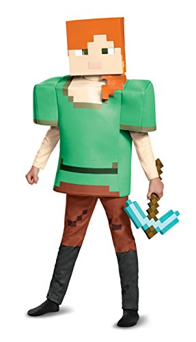 Alex Deluxe Minecraft Costume, Multicolor, Medium (Minecraft Halloween Costume Skin)