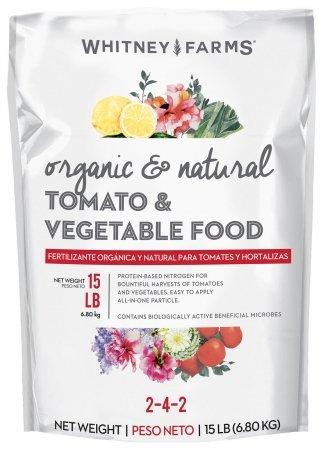 Whitney Farms 10101-10029 15 Lb Organic & Natural Tomato & Vegetable Food 2-4-2