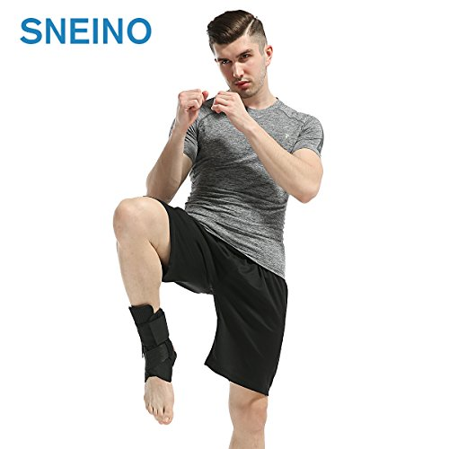 Ankle Stabilizer SNEINO Adjustable Ankle Brace with Gel Spring Support Ankle for Pain Recovery Reduce Foot Swelling Provides Arch Support,Heel Spurs,Achilles Tendon (M) by SNEINO (Image #5)