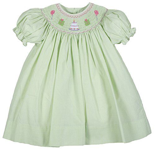 - Petit Ami Infant Girls Smocked Birthday Dress Lime Months (24 Months)