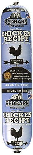 Redbarn Pet Products Chicken and Liver Food Roll, Net Weight 4 lbs