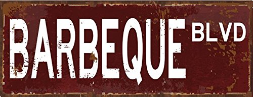 Barbeque Blvd Metal Street Sign, Patio Décor, Outdoor Living, Kitchen Décor ()