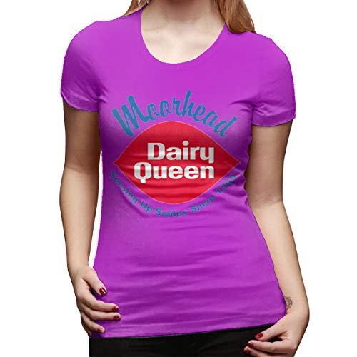 - CSDQC Womens Customized Lovely Tee Dairy Queen Logo DQ Logo Short Sleeve New T-Shirts Fuchusia M