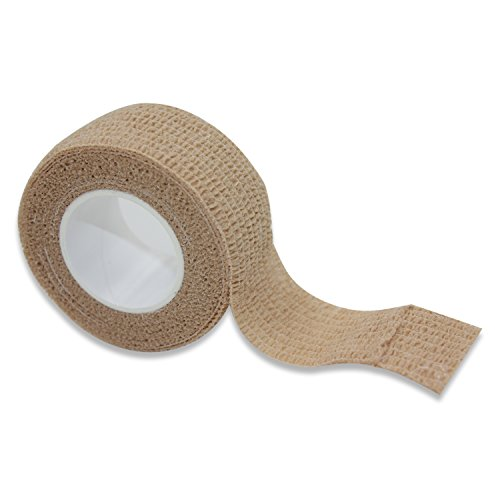 """COMOmed Self Stick Cohesive Bandage Latex FDA Approved 1"""" x5 Yards First Aid Ace Bandages Stretch Sport Wrap Vet Tape for Wrist Ankle Sprain and Swelling,12 Rolls"""