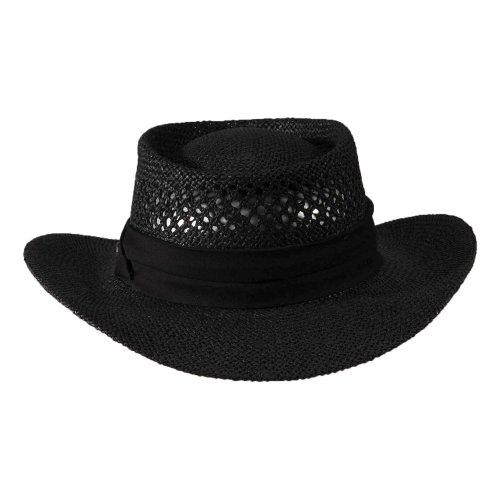 Greg Norman Men s Signature Straw Hat - Black ac3ec6eab156