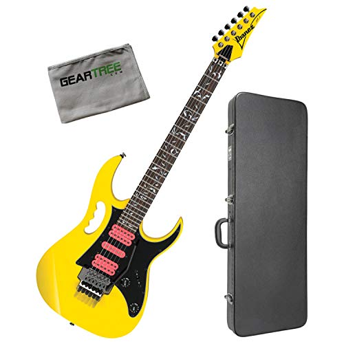 (Ibanez JEMJRSPYE Steve Vai Signature Yellow Electric Guitar w/Hard Case and Clot)