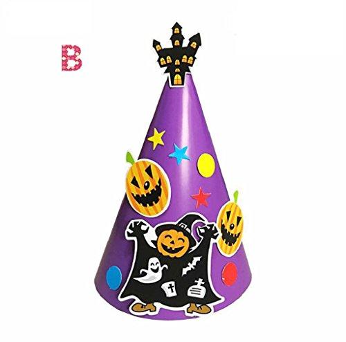 Kids Halloween Hat, DKmagic 1Pcs DIY Halloween Paper Cartoon Cap Child Child Halloween Ornament Hatn (1920s Diy Halloween Costumes)