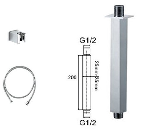 GOWE Luxury thermostatic shower set Digital Intelligent wall mounted rain shower faucet -300 head shower 3