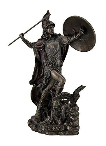 Athena Greek Goddess Throwing Javelin Statue Sculpture Minerva -  JFSM INC, WU76978A4