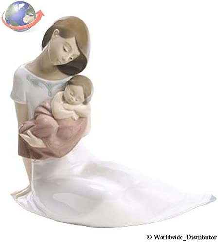 2001705 Nao Porcelain by Lladro LIGHT OF MY DAYS GIRL MOTHER HOLDING BABY GIRL ASLEEP