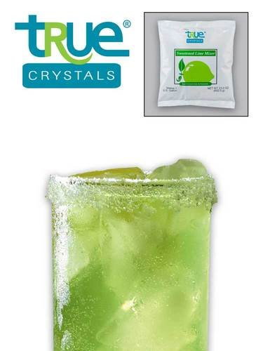 Kerry Food and Beverage True Crystal Lime Sweetened Drink Mixer, 23 Ounce -- 12 per case.
