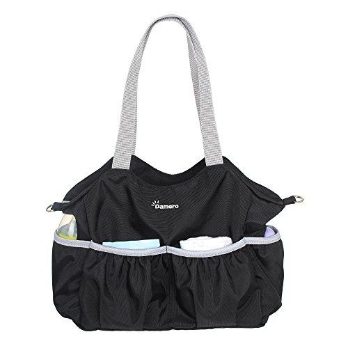 Damero Multifunktion Tasche Wickeltasche Organiser Tasche mit mehreren Taschen und Buggybutler (Schwarz)