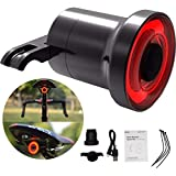 Smart Bike Brake Light Bicycle Tail Light. IPX6 Waterproof USB Rechargeable Super Bright Led Bicycle Rear Tail Light. Smart Auto On-Off & Brake Sensing Cycling Safety Light f or Mountain Bike Road Bik