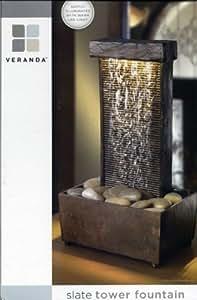Veranda Slate Tower Fountain [Straight]