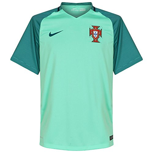 Nike Men's Portugal Away Stadium Soccer Jersey (Mint Green) Large (Portugal Away Shirt)