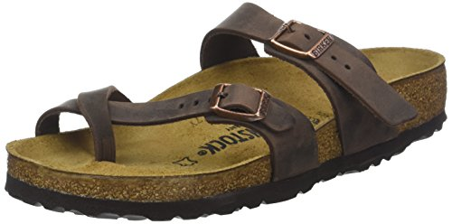 Birkenstock Women's Mayari Adjustable Toe Loop Cork Footbed Sandal Havana 41 M EU