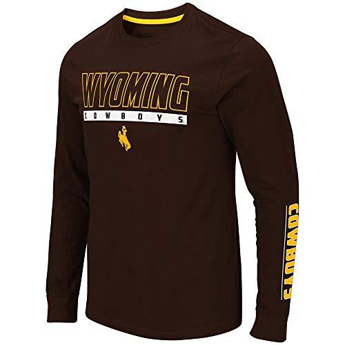 Mens Wyoming Cowboys Guam Long Sleeve Tee Shirt - S