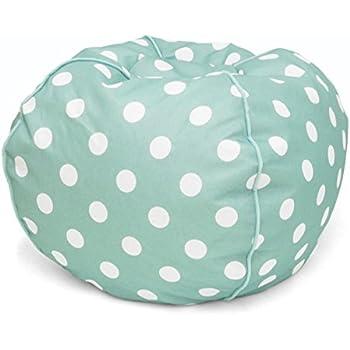 Heritage Kids JK656189 Kids Polka Dot Round Bean Bag Chair, Turquiose
