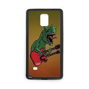 Samsung Galaxy Note 4 Cell Phone Case Black Rocking Dino B1O3RM