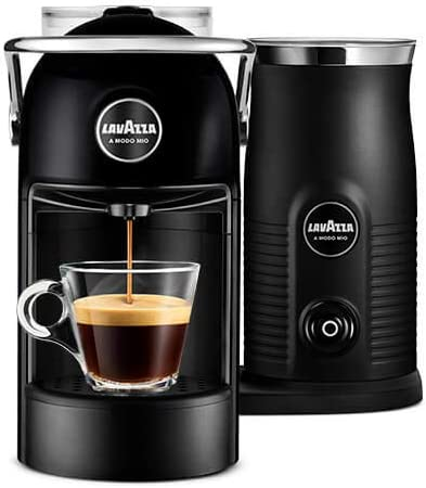 Lavazza A Modo Mio Milk Coffee Machine Joliemilk With Milk Frother Black