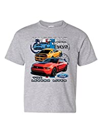 Ford Mustang The Legend Lives Hooded Youth T-Shirt 0 Tee