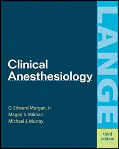 Book Clinical Anesthesiology (International Students Edition)