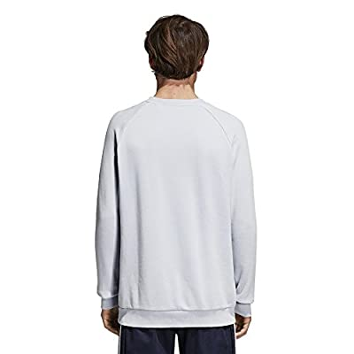 adidas Trefoil Crew Sweater - Ash Blue - XXL: Sports & Outdoors