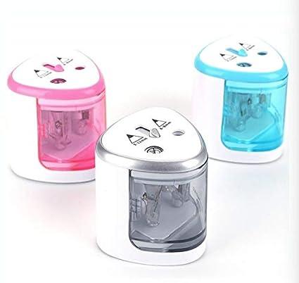blu artisti professionisti doppio foro multicolore Supertool temperamatite elettrico automatico cancelleria per bambini ufficio