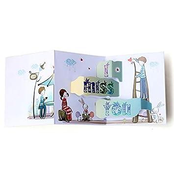Tarjeta de regalo 3D Tarjeta emergente, Saludo, Día de la ...